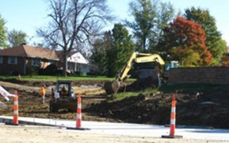 Construction at the intersection of Smiley and Rangeline in Columbia, MO
