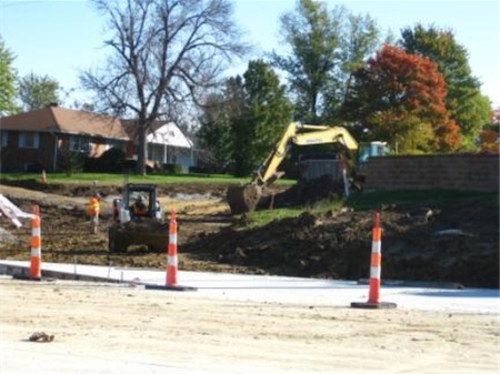 Figure 1:  Construction at the intersection of Smiley and Rangeline in Columbia, MO.