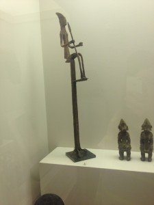 5. Ritual Staff with Seated Nommo. Iron. MALI, Early 20th century.