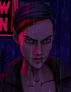 "(Fig. 2) Bloody Mary's first appearance in ""The Wolf Among Us""."