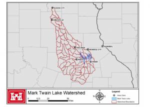 Figure 1: Mark Twain Lake Watershed